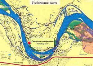 Рыболовная карта Астраханской области